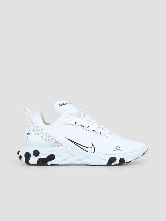 Nike React Element 55 White Black CU3009-100