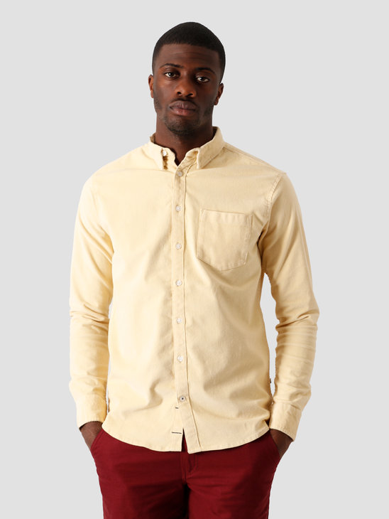 Kronstadt Johan Soft Corduroy Shirt Off White KS2880
