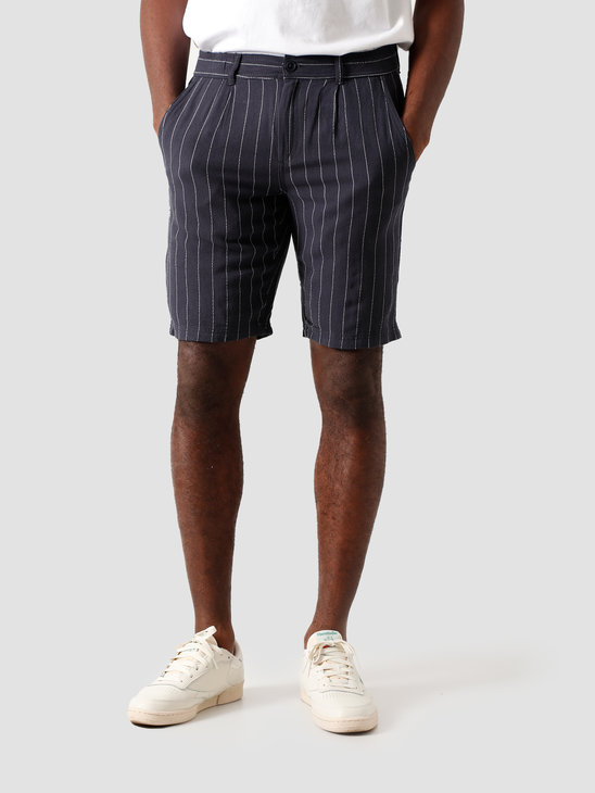 Kronstadt Giles Big Stripe Shorts Navy KS2822