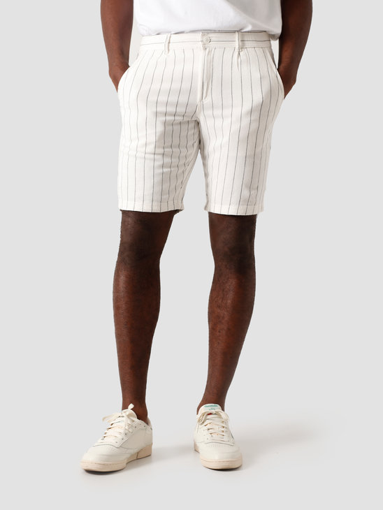 Kronstadt Giles Big Stripe Shorts Off White KS2822