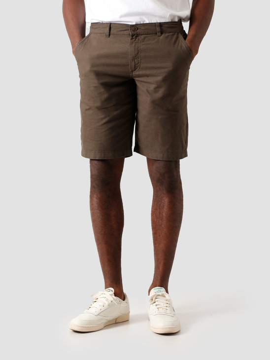Kronstadt Hector Oxford Shorts Washed Army KS2809