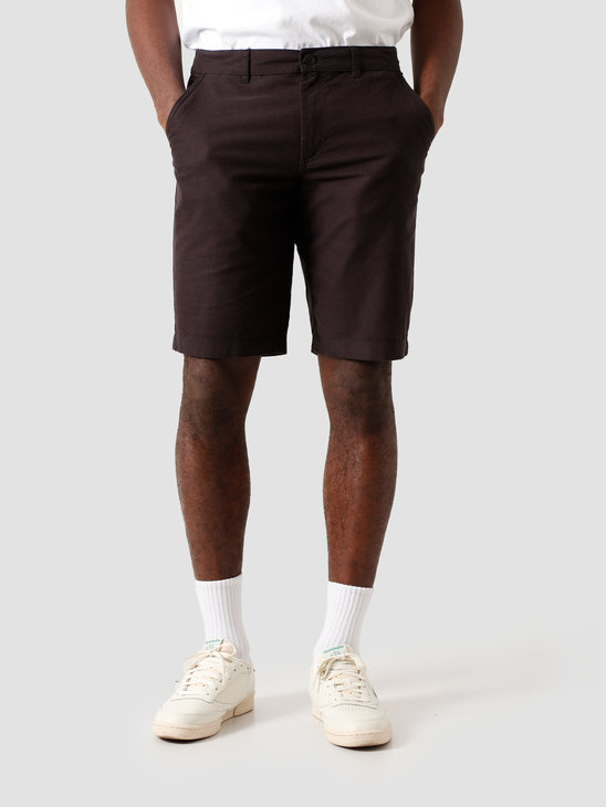 Kronstadt Hector Oxford Shorts Washed Black KS2809