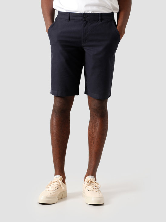 Kronstadt Hector Oxford Shorts Washed Navy KS2809
