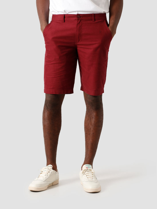 Kronstadt Hector Oxford Shorts Washed Bordeaux KS2809