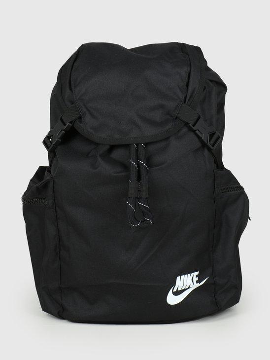 Nike Heritage Rucksack Black Black White BA6150-010