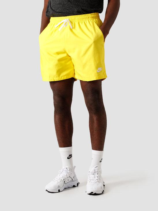 Nike NSW Sce Short Woven Flow Opti Yellow White AR2382-731