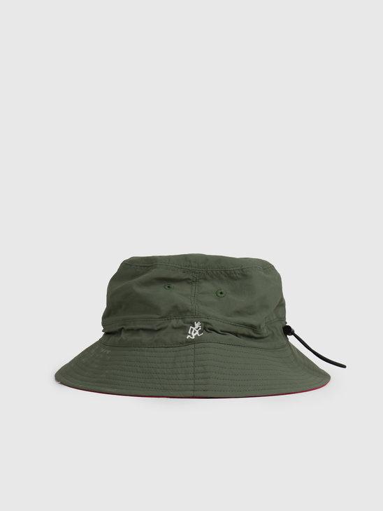 Gramicci Shell Reversible Hat Olive Raspberry GAC-20S042