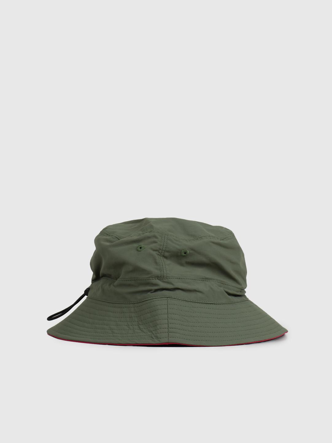 Gramicci Gramicci Shell Reversible Hat Olive Raspberry GAC-20S042