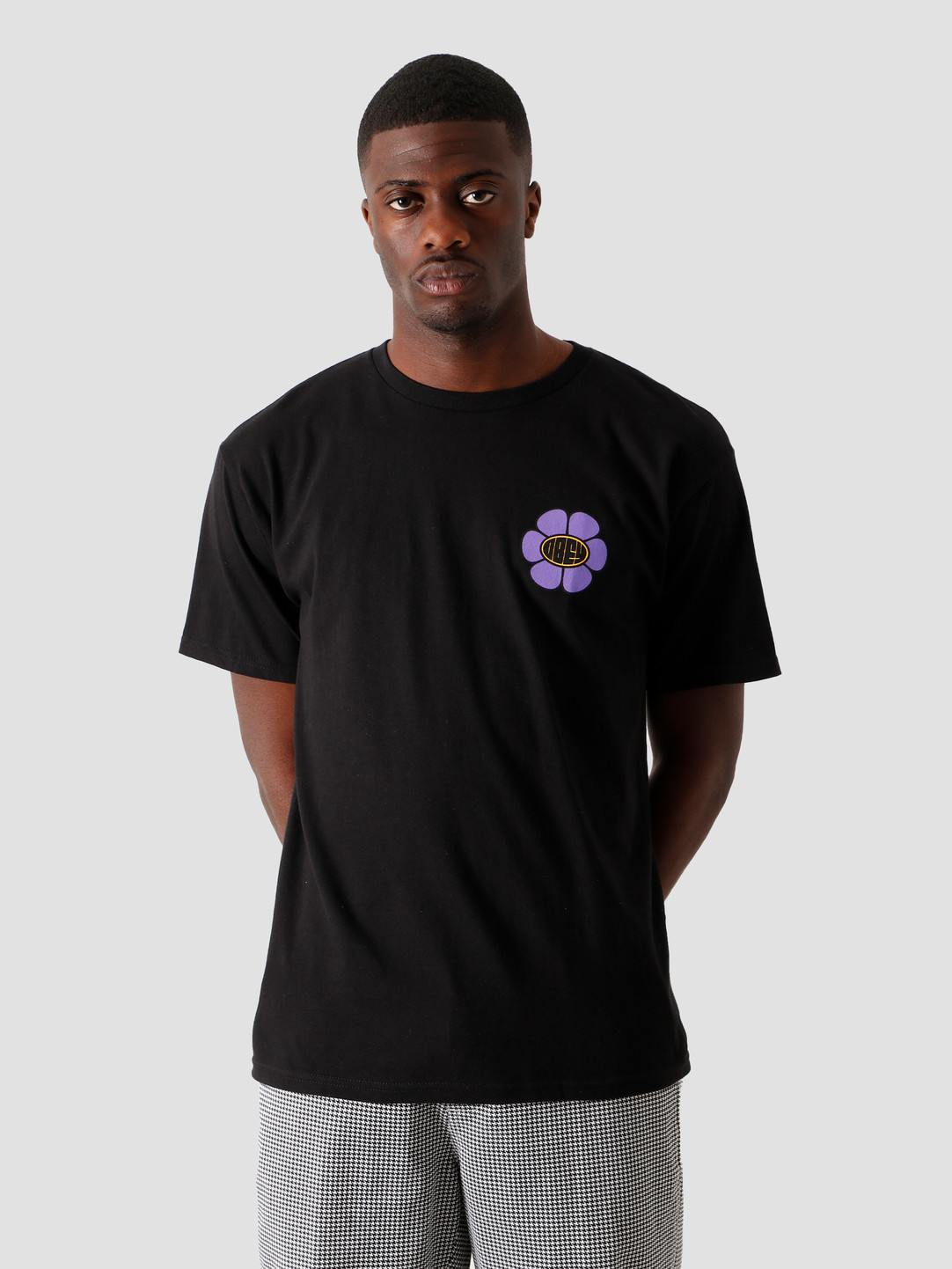 Obey Obey Daisy Ave. T-Shirt Black 163082322 BLK