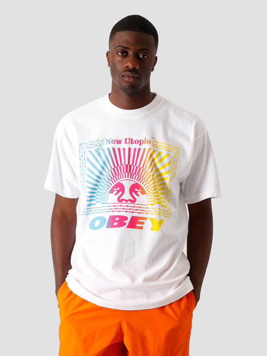 Obey New Utopia T-Shirt White 166912315 WHT