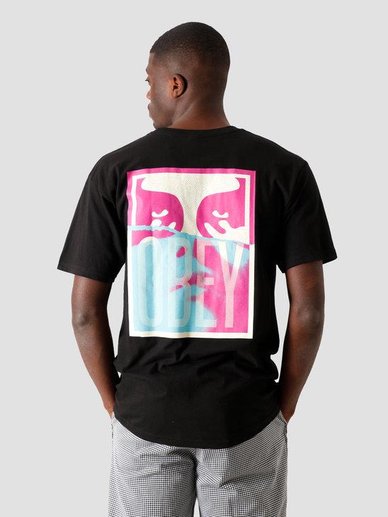 Obey Noir Woman Icon 2 T-Shirt Black 163082330 BLK