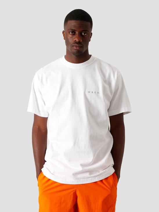 Obey Novel Obey 3 T-Shirt White 166911838 WHT