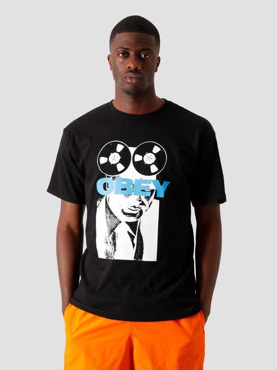 Obey Phone Tap T-Shirt Black 163082336 BLK
