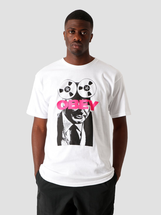 Obey Phone Tap T-Shirt White 163082336 WHT