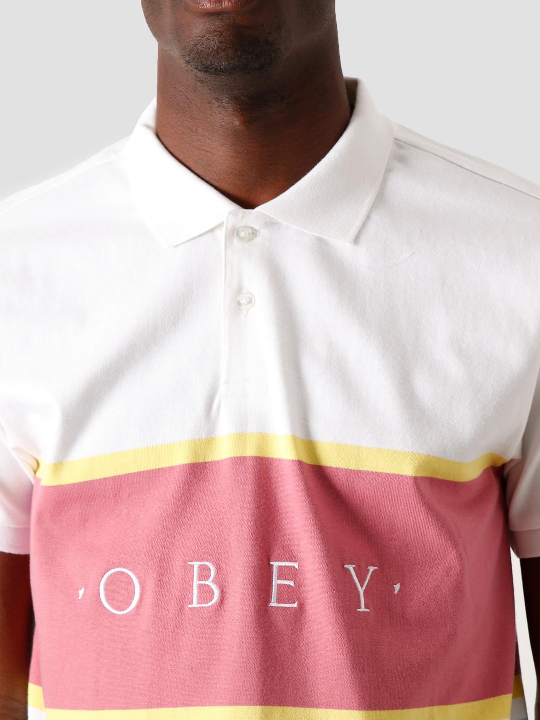 Obey Obey Pledge Polo SS White Multi 131090057 WTM