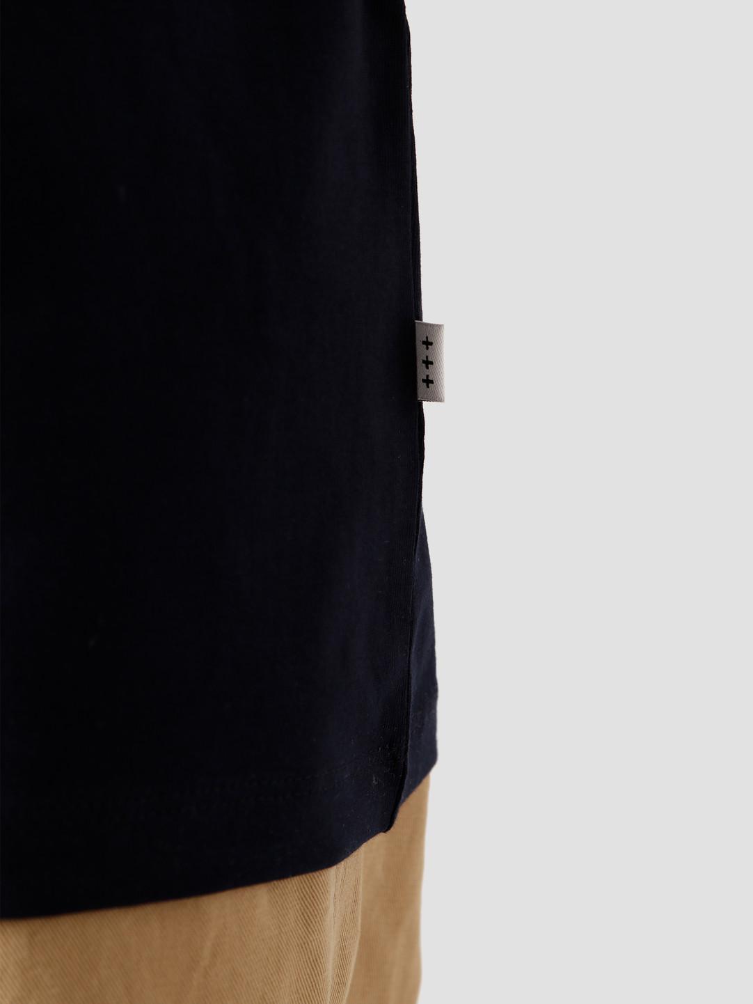 Quality Blanks Quality Blanks QB03 Patch Logo T-shirt Dark Sapphire