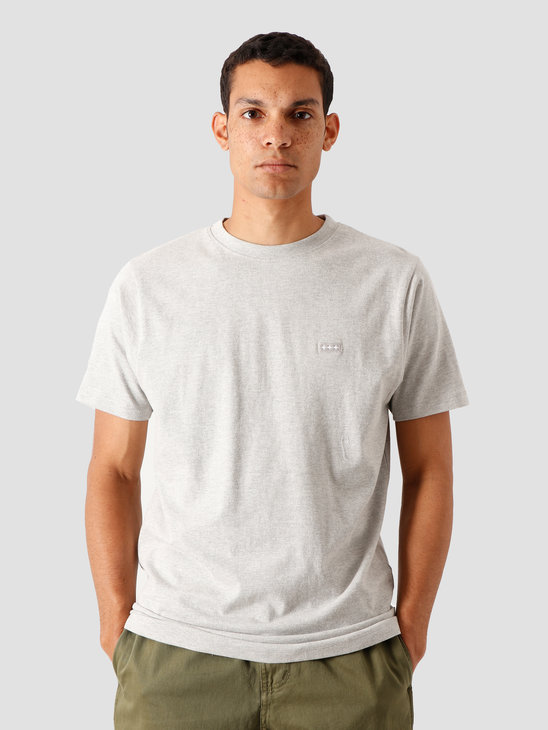 Quality Blanks QB03 Patch Logo T-Shirt Grey Heather
