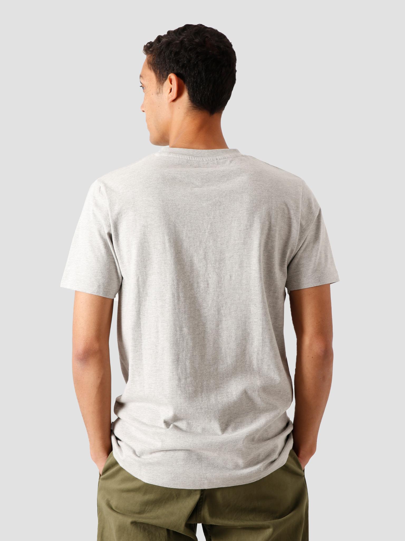 Quality Blanks Quality Blanks QB03 Patch Logo T-Shirt Grey Heather