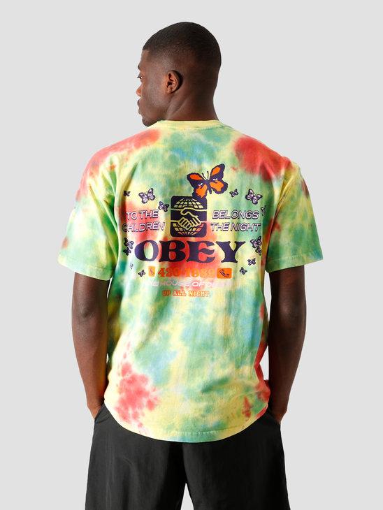 Obey To The Children T-Shirt Rainbow 163132314 RAI