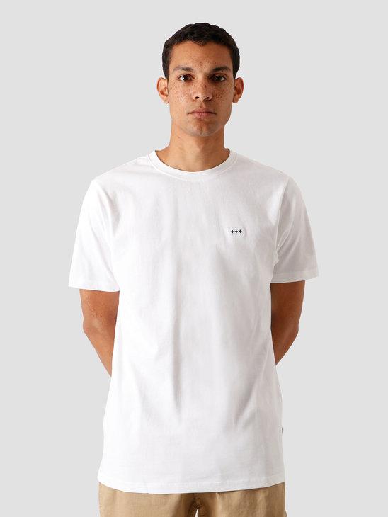 Quality Blanks QB03 Patch Logo T-shirt White