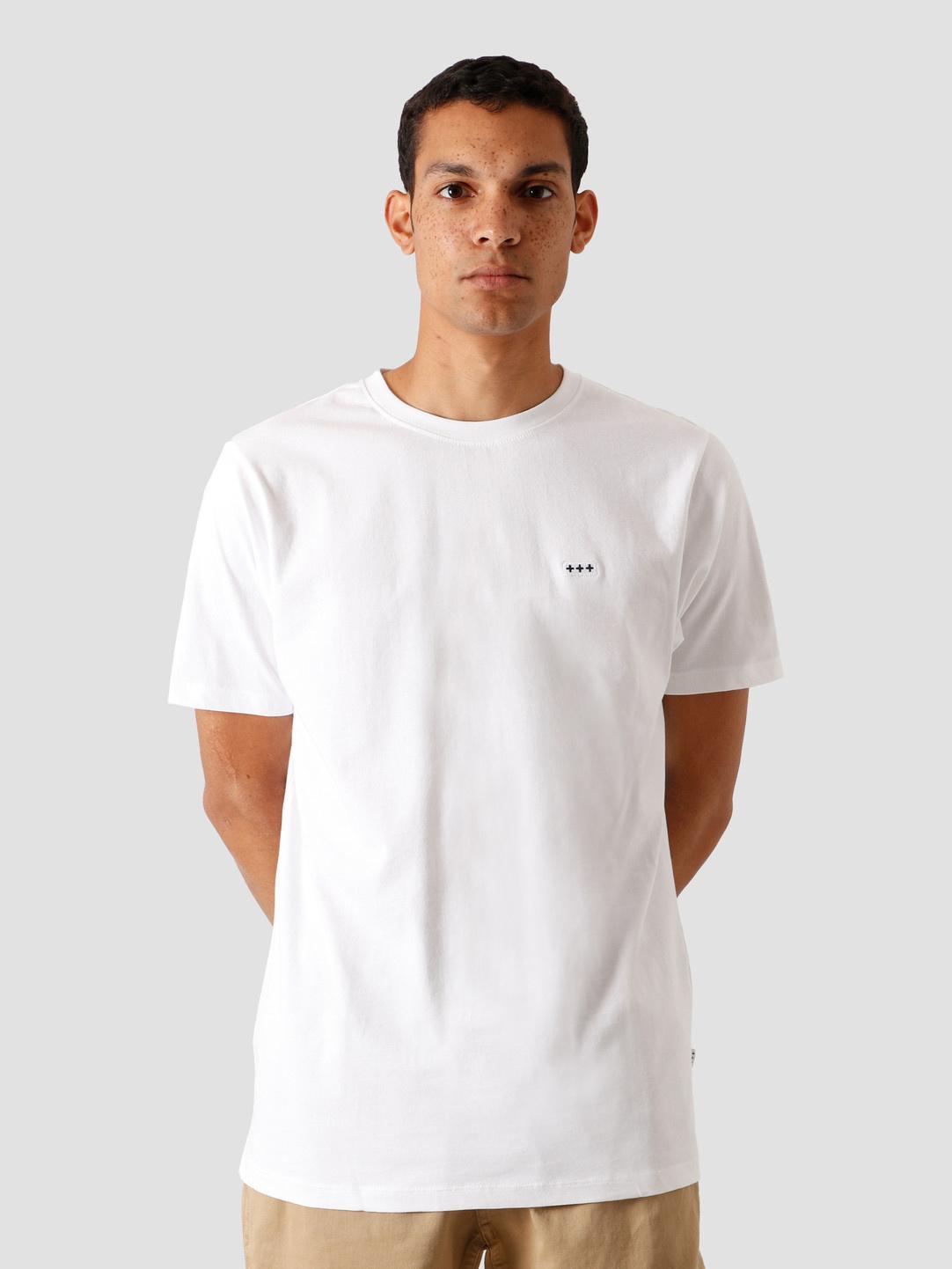Quality Blanks Quality Blanks QB03 Patch Logo T-shirt White