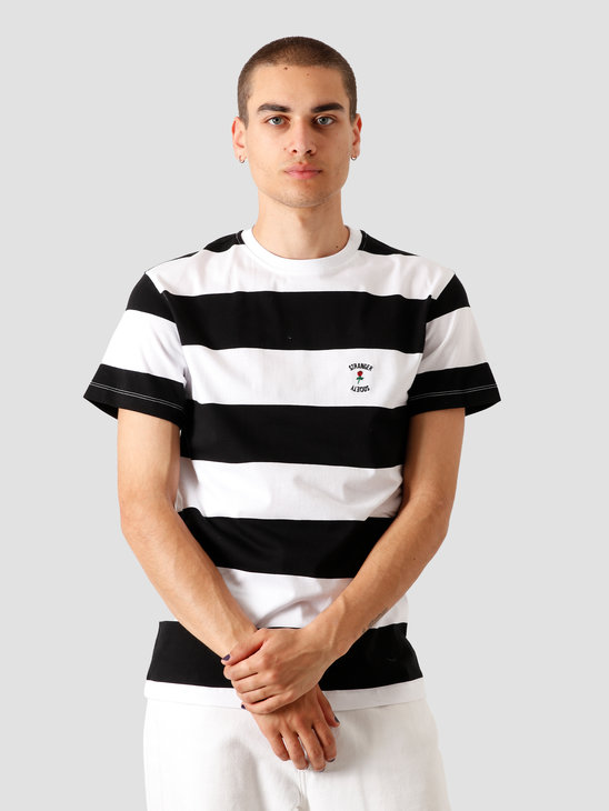 Stranger Society Garden Striped T-Shirt Black