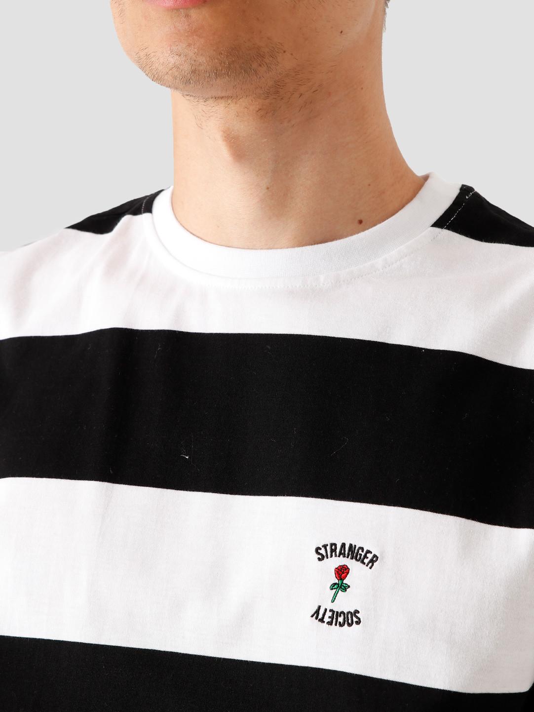 Stranger Society Stranger Society Garden Striped T-Shirt Black