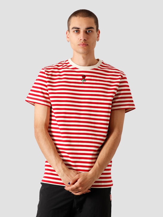 Stranger Society Garden Striped T-Shirt Cherry