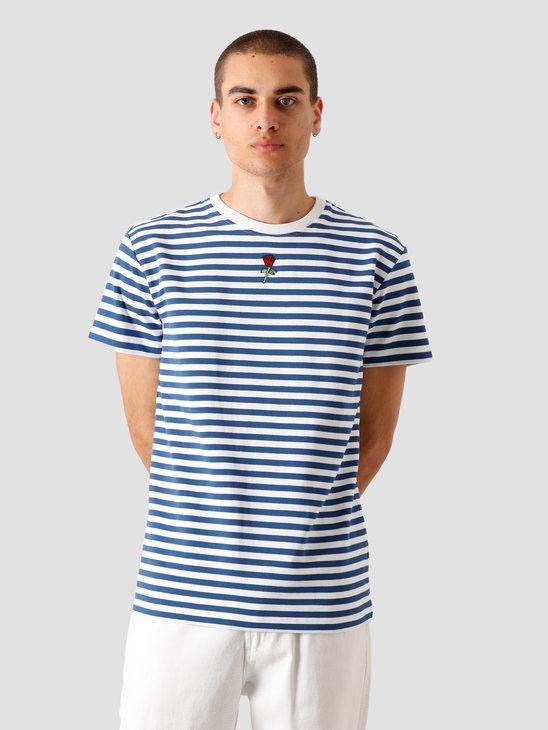 Stranger Society Garden Striped T-Shirt Marine