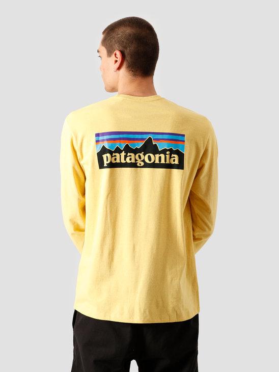 Patagonia M's Longsleeve P-6 Logo Responsibili T-Shirt Surfboard Yellow 38518