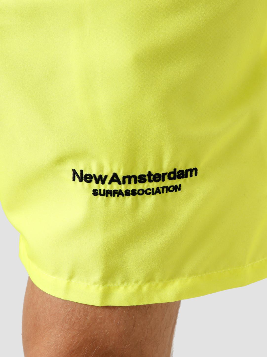 New Amsterdam Surf association New Amsterdam Surf association Logo Swimshort Safety Green 2020016