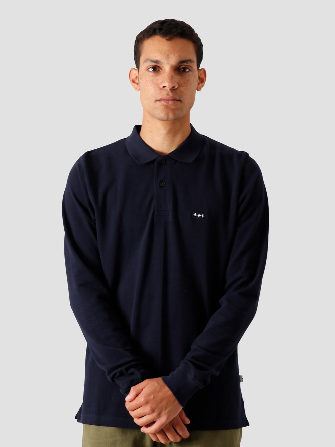 Quality Blanks Quality Blanks QB51 Longsleeve Polo Dark Sapphire
