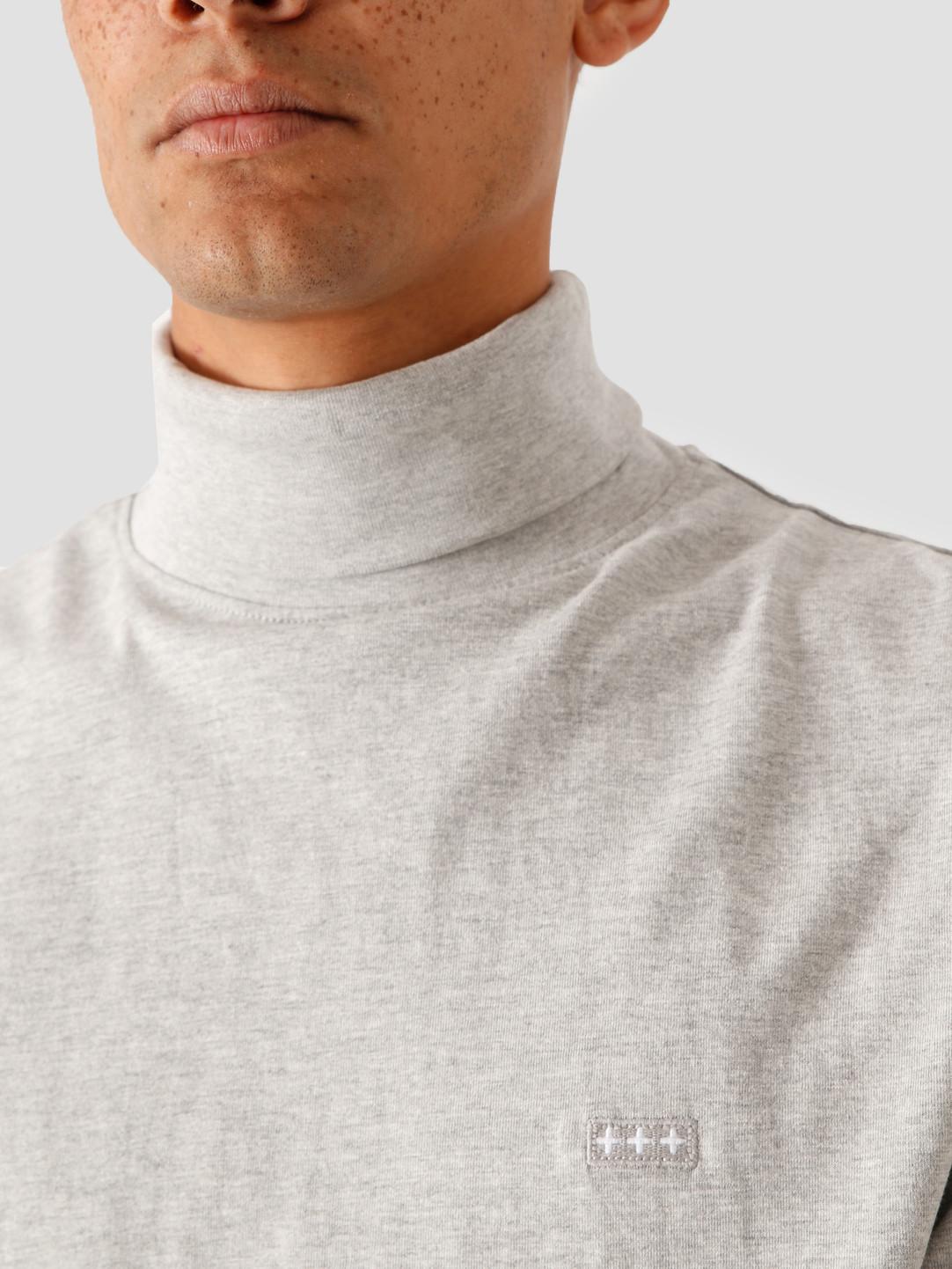Quality Blanks Quality Blanks QB08 Rollneck Longsleeve Grey Heather