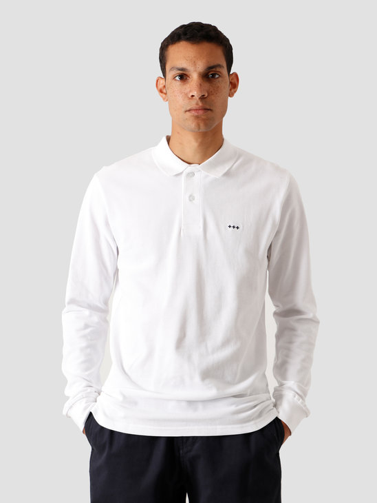 Quality Blanks QB51 Longsleeve Polo White
