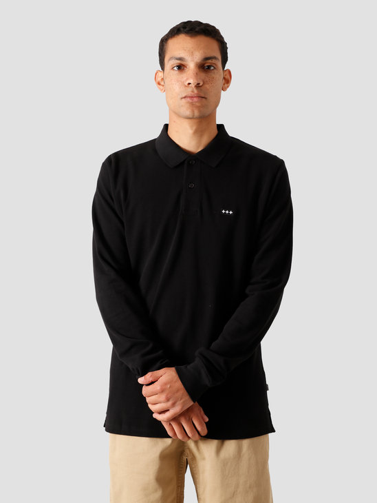 Quality Blanks QB51 Longsleeve Polo Black