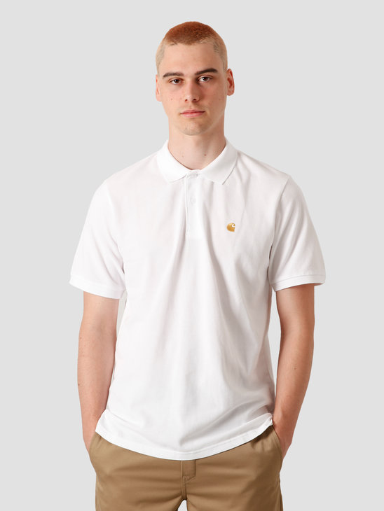 Carhartt WIP Chase Pique Polo White Gold I023807