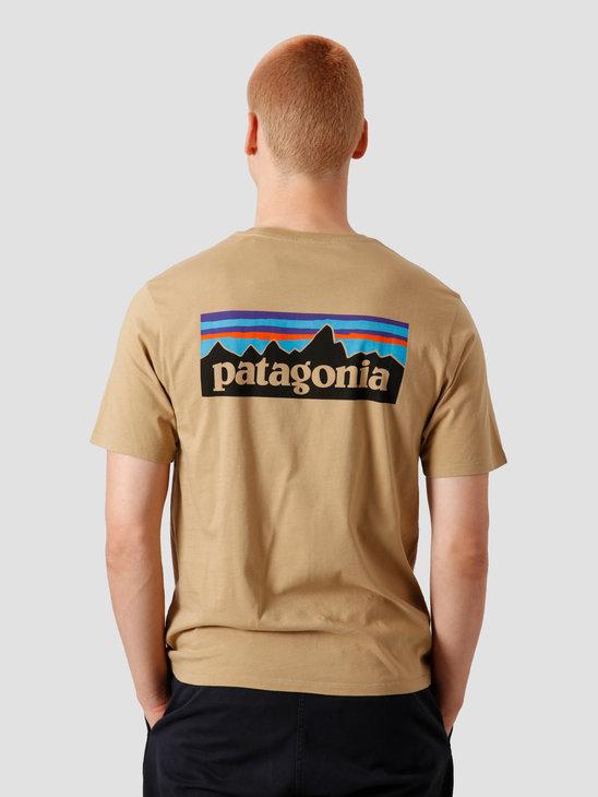 Patagonia M's P-6 Logo Organic T-Shirt Classic Tan 38535
