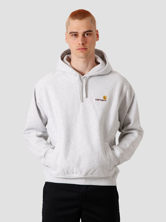 Carhartt WIP Hooded American Script Sweat Ash Heather I027041