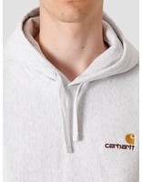 Carhartt WIP Carhartt WIP Hooded American Script Sweat Ash Heather I027041
