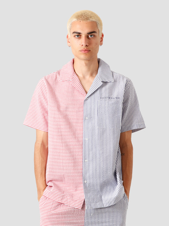 Daily Paper Reseer Shirt Red Blue Striped 20S1AC53-02-7