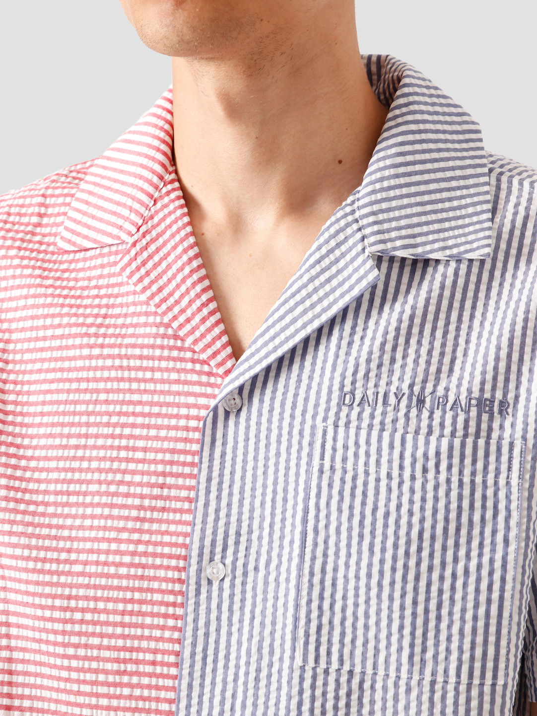 Daily Paper Daily Paper Reseer Shirt Red Blue Striped 20S1AC53-02-7