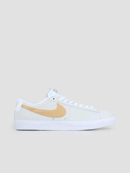 Nike SB Zoom Blazer Low Gt White Club Gold White Light Thistle 704939-104