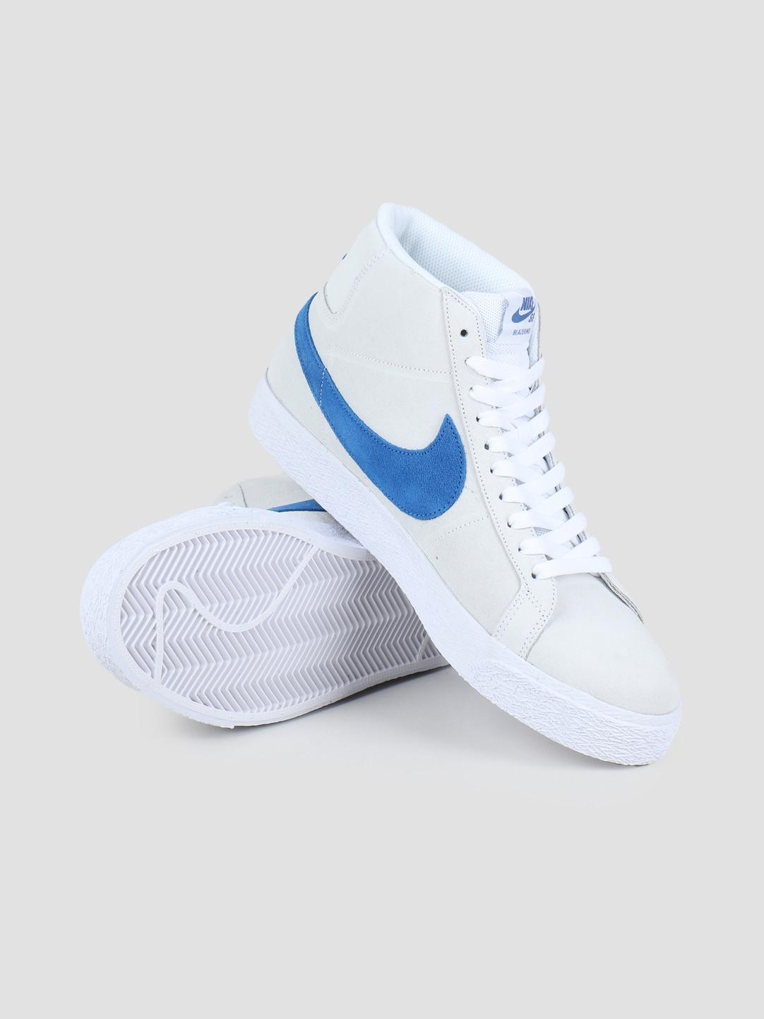 Nike SB Zoom Blazer Mid White Team Royal White Cerulean 864349 104