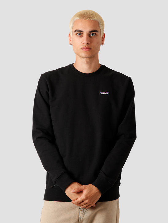 Patagonia P-6 Label Uprisal Crew Sweatshirt Black 39543