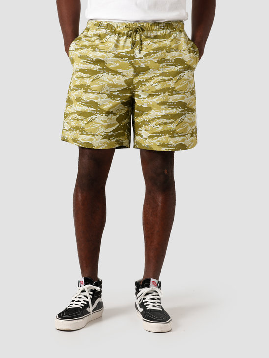 HUF Fuck It Tiger Camo Easy Short Dusty Olive PT00123