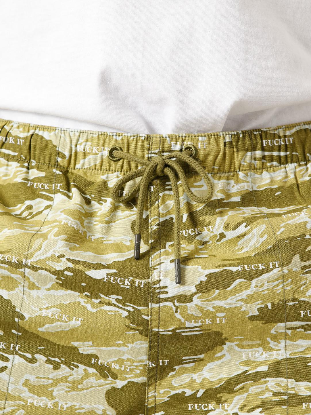 HUF HUF Fuck It Tiger Camo Easy Short Dusty Olive PT00123