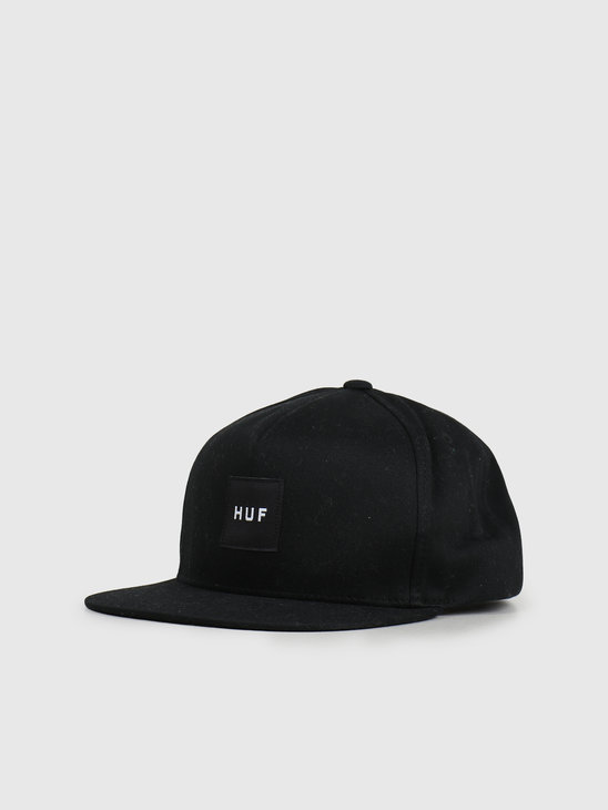 HUF Essentials Box Snapback Hat Black HT00343