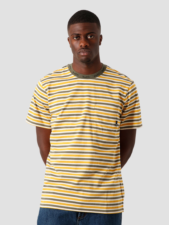 HUF Alex Stripe Shortsleeve Shirt Golden Spice KN00187