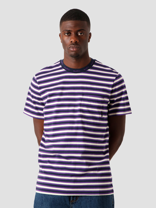 HUF Alex Stripe Shortsleeve Shirt Off-White KN00187