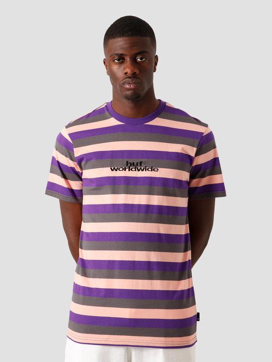 HUF Cruz Shortsleeve Knit Shirt Coral Pink KN00239